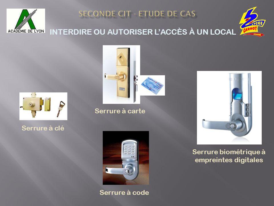 Serrure biométrique à empreintes digitales Serrure à code Serrure à carte Serrure à clé INTERDIRE OU AUTORISER LACCÈS À UN LOCAL