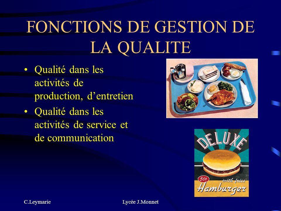 C.LeymarieLycée J.Monnet FONCTIONS DENTRETIEN ENTRETIEN DES LOCAUX ET DES EQUIPEMENTS LAVAGE, RANGEMMENT : de la vaisselle, des matériels et des usten
