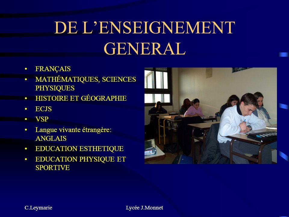 C.LeymarieLycée J.Monnet QUE FAIT-ON? DANS LE CAP APR