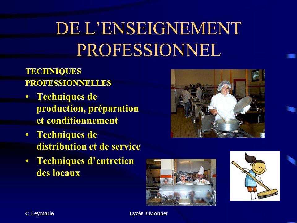 C.LeymarieLycée J.Monnet DE LENSEIGNEMENT GENERAL FRANÇAIS MATHÉMATIQUES, SCIENCES PHYSIQUES HISTOIRE ET GÉOGRAPHIE ECJS VSP Langue vivante étrangère: