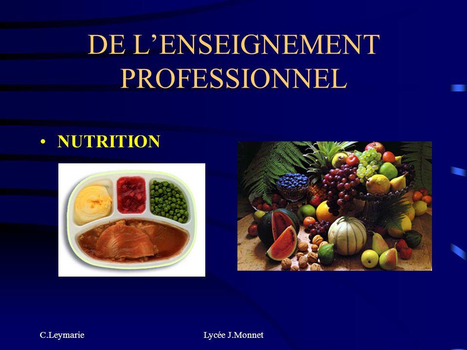 C.LeymarieLycée J.Monnet DE LENSEIGNEMENT PROFESSIONNEL MICROBIOLOGIE