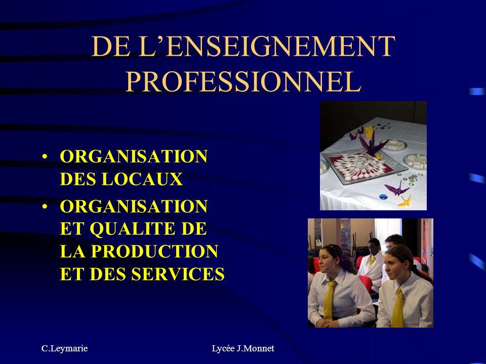C.LeymarieLycée J.Monnet DE LENSEIGNEMENT PROFESSIONNEL NUTRITION