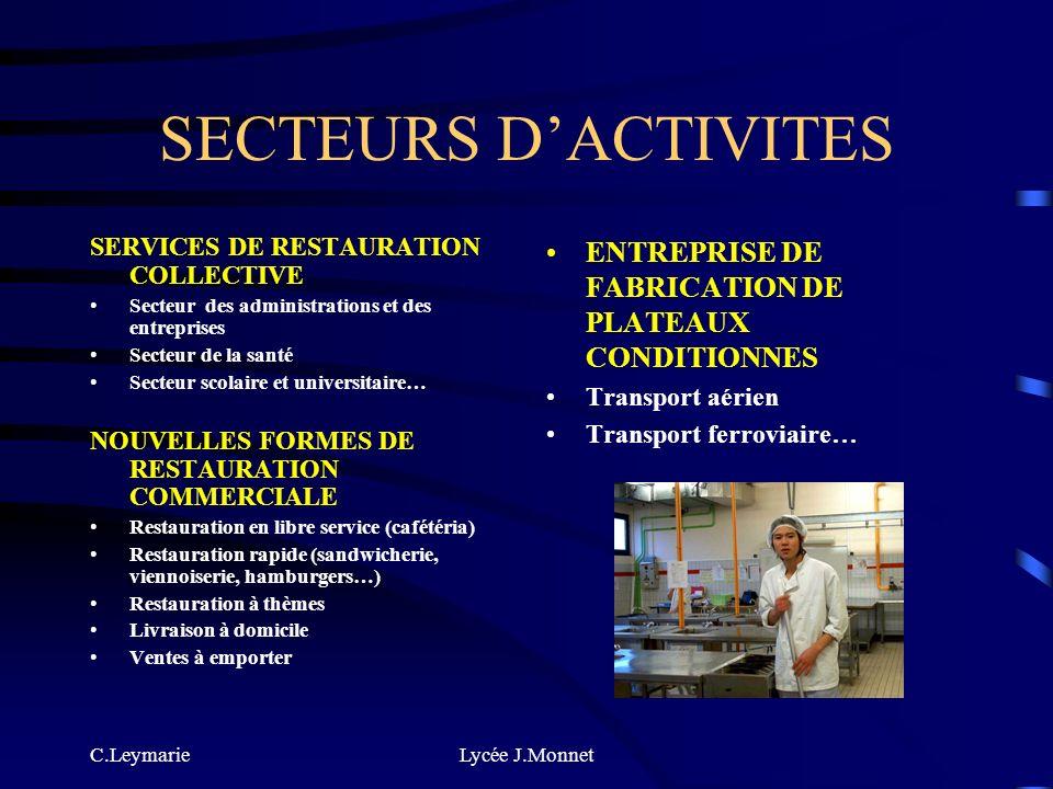 C.LeymarieLycée J.Monnet LE CAP APR AGENT POLYVALENT DE RESTAURATION