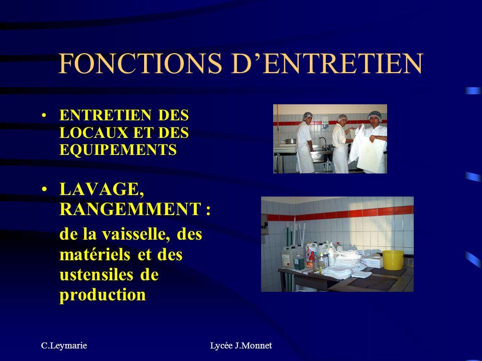 C.LeymarieLycée J.Monnet FONCTIONS DE SERVICE ET DE COMMUNICATION Mise en valeur des produits, des espaces de vente Accueil, information, conseil et s