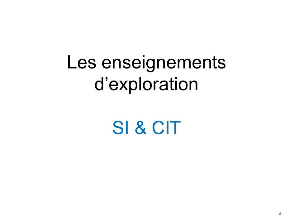 Les enseignements dexploration SI & CIT 4