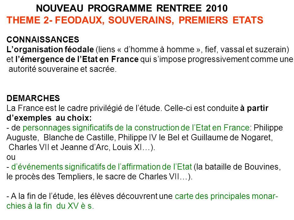 CAPACITES Connaître et utiliser les repères suivants: - Un événement significatif de laffirmation de lEtat en France - Une carte de lévolution du domaine royal et des pouvoirs du roi en France, Xe- XVe s.