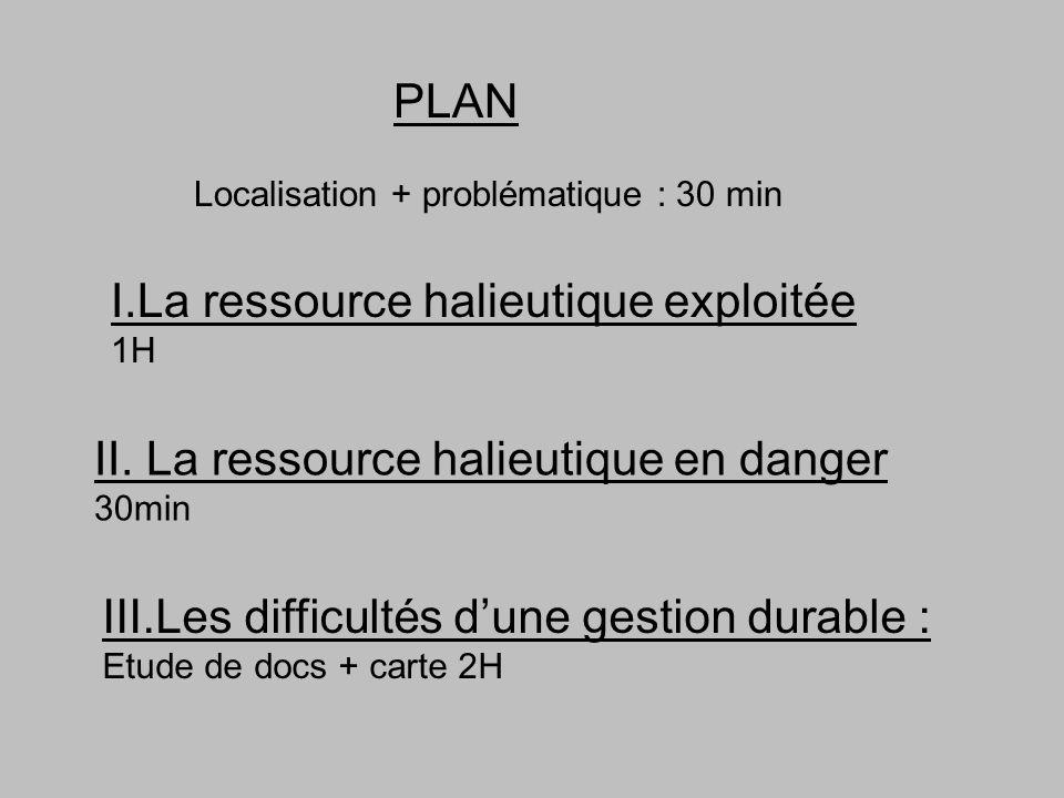 I.La ressource halieutique exploitée 1H II.