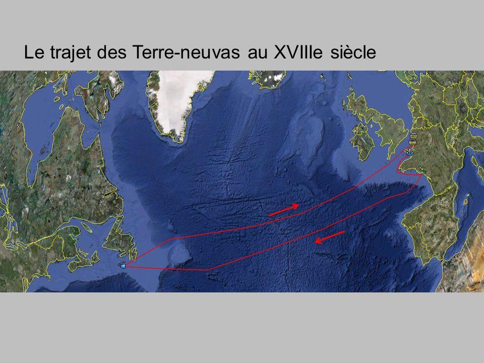 Le trajet des Terre-neuvas au XVIIIe siècle