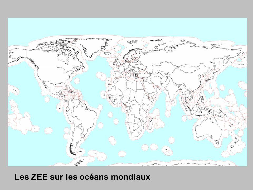Les ZEE sur les océans mondiaux
