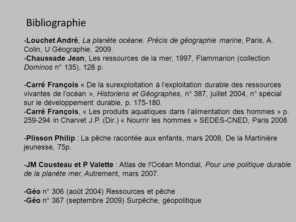 Bibliographie -Louchet André, La planète océane.Précis de géographie marine, Paris, A.