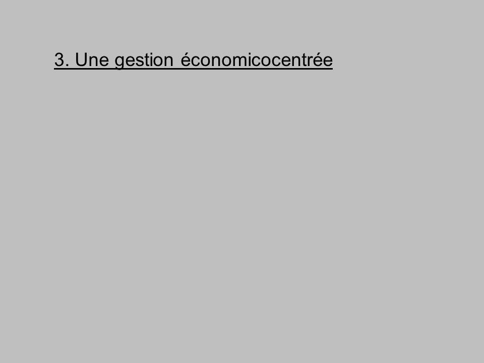 3. Une gestion économicocentrée