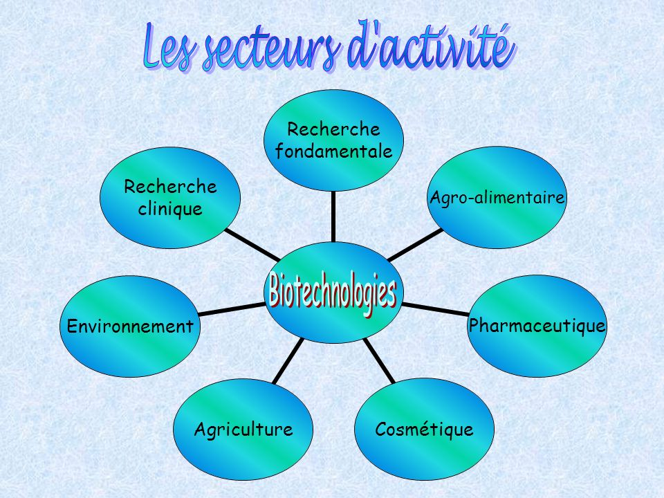 . Recherche fondamentale Agro- alimentaire PharmaceutiqueCosmétiqueAgricultureEnvironnement Recherche clinique