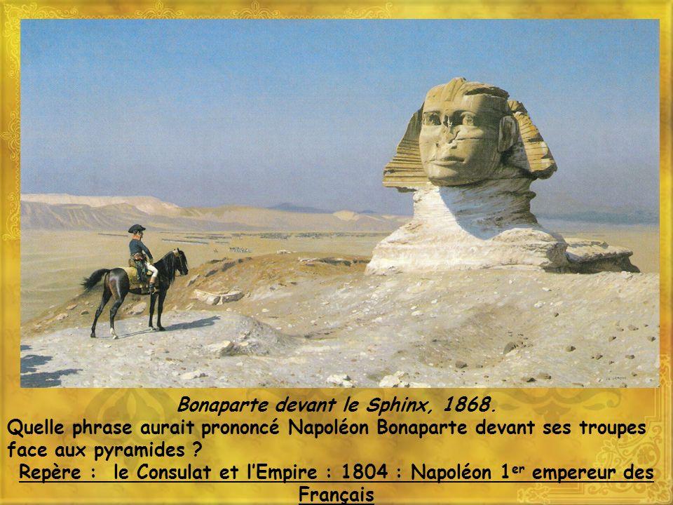 Bonaparte devant le Sphinx, 1868.