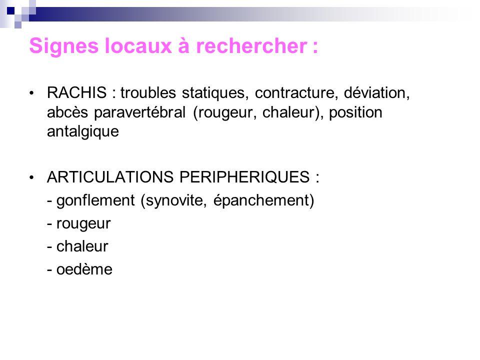 La tendinite de De Quervain Plainte : Douleur styloïde radiale Douleur exquise à la pression gonflement .