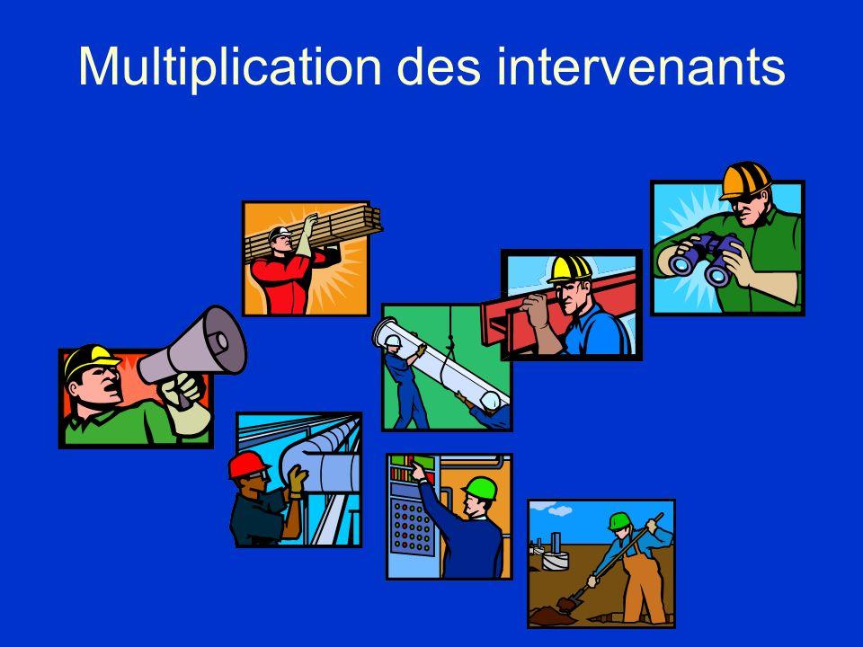 Multiplication des intervenants