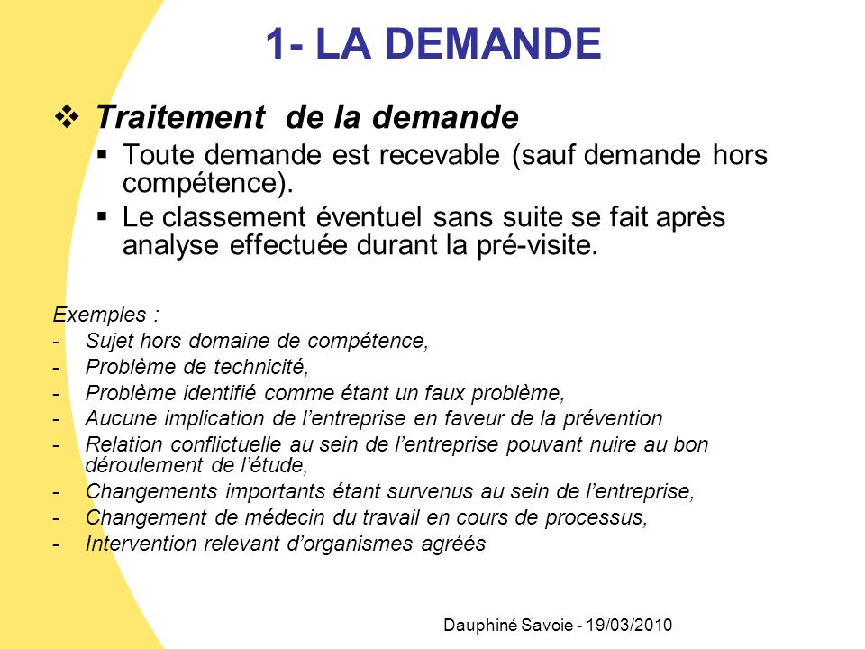 2- REPARTITION DE LA DEMANDE Qui .Le service IPRP Comment .