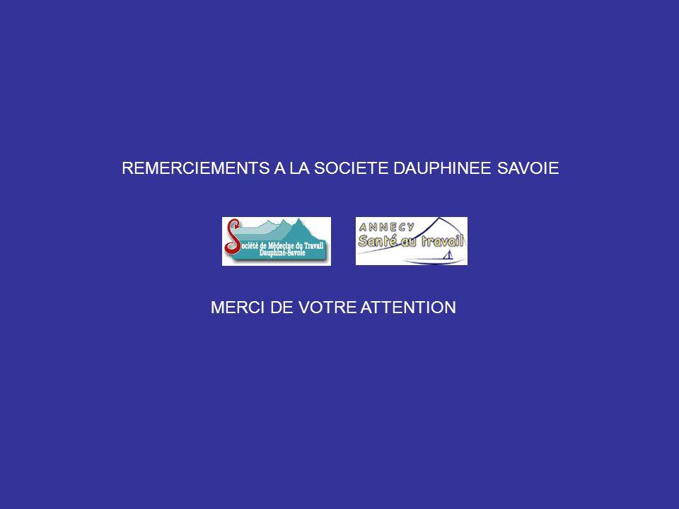 REMERCIEMENTS A LA SOCIETE DAUPHINEE SAVOIE MERCI DE VOTRE ATTENTION