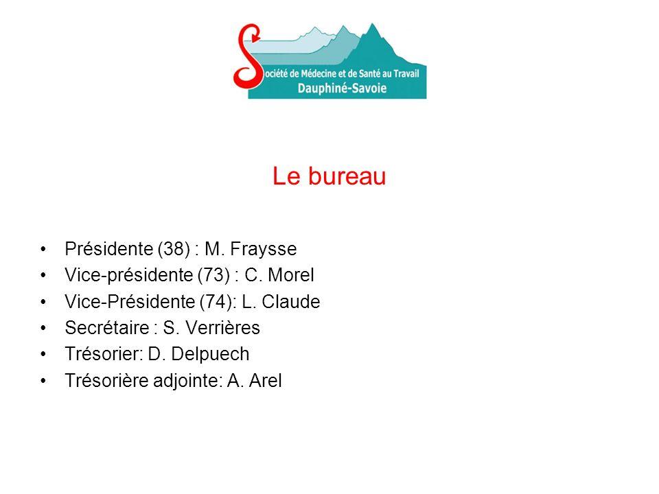 Le bureau Présidente (38) : M. Fraysse Vice-présidente (73) : C.