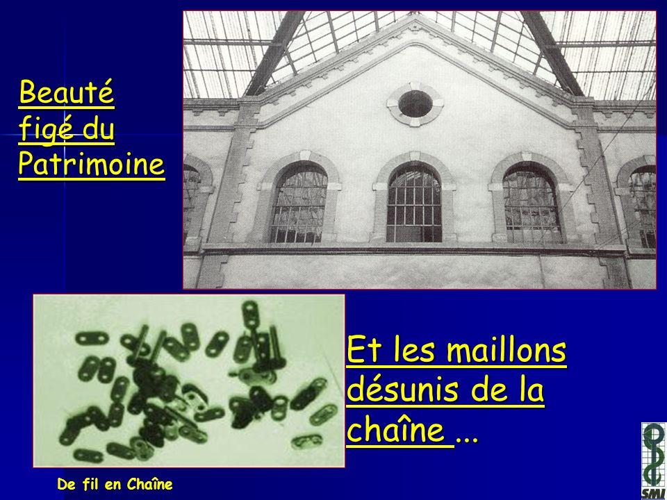 De fil en Chaîne Beauté figé du Patrimoine Et les maillons désunis de la chaîne...