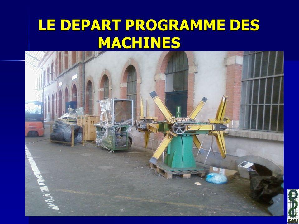 LE DEPART PROGRAMME DES MACHINES