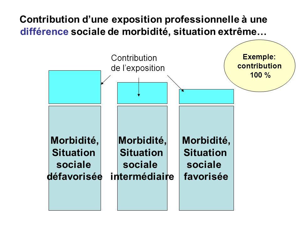 Contribution dune exposition professionnelle à une différence sociale de morbidité, situation extrême… Morbidité, Situation sociale défavorisée Morbid