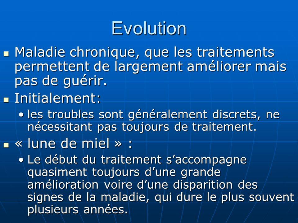 Evolution Maladie chronique, que les traitements permettent de largement améliorer mais pas de guérir. Maladie chronique, que les traitements permette