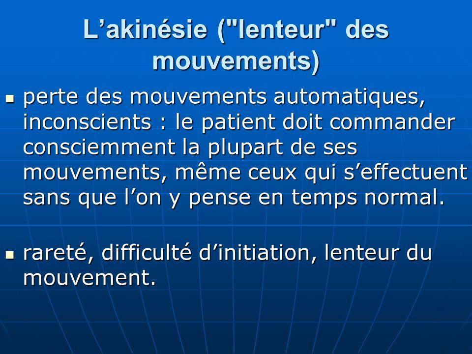 Examens complémentaires normaux dans la maladie de Parkinson et aucun nest indispensable.