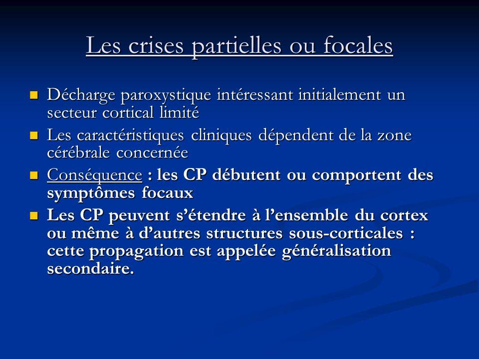 Les différents types de crise Les crises partielles
