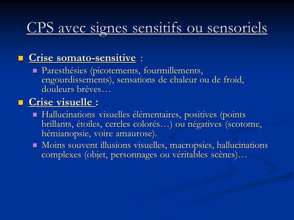 CPS avec signes moteurs : Crise somato-motrice avec marche jacksonienne : Crise somato-motrice avec marche jacksonienne : Crise partielle motrice Cris