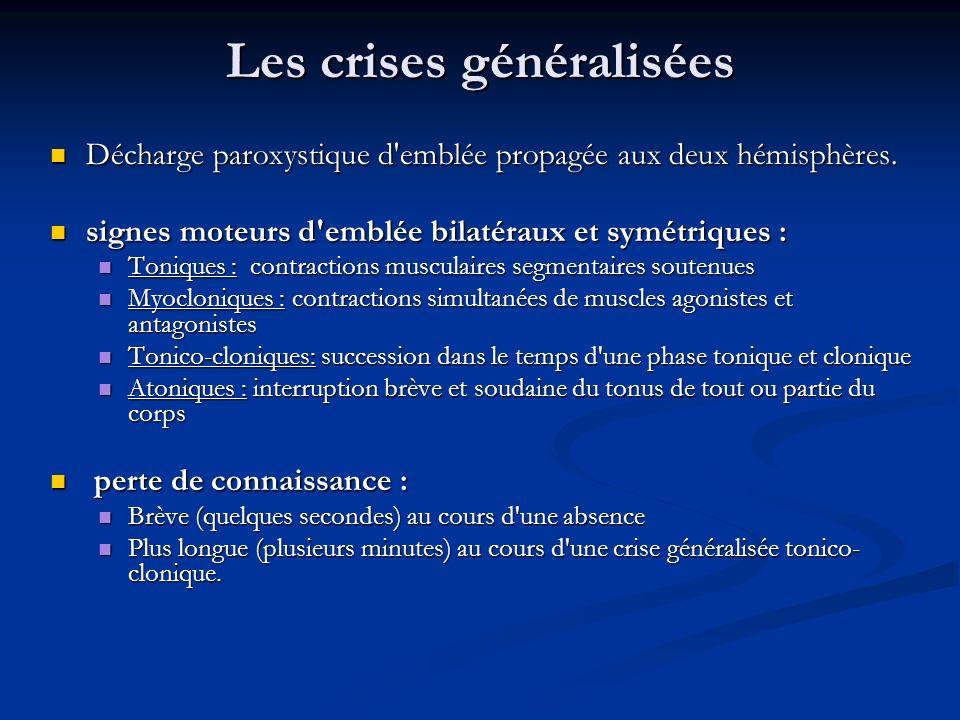 Les différents types de crise Les crises généralisées