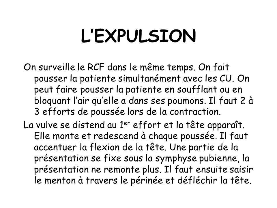 LEXPULSION On surveille le RCF dans le même temps.