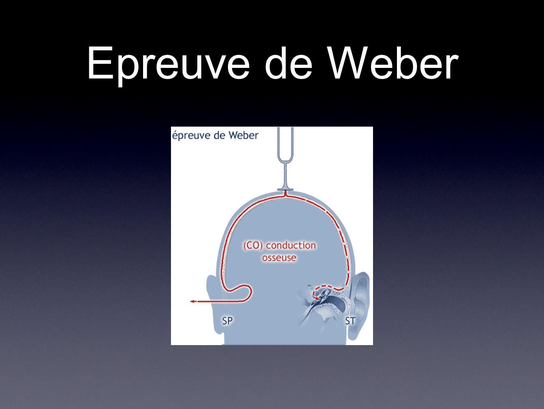 Epreuve de Weber