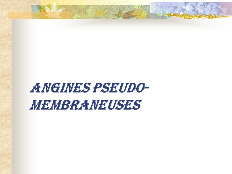 ANGINES PSEUDO- MEMBRANEUSES