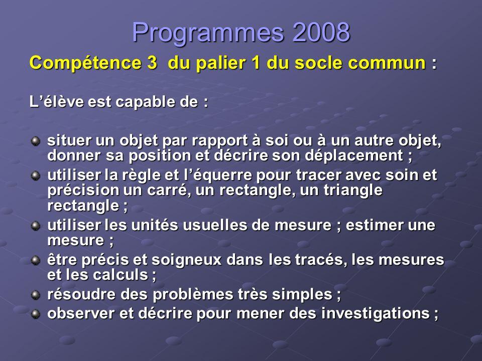 Programmes 2008 CPCE1 Repérer des événements de la journée en utilisant les heures et les demi-heures.