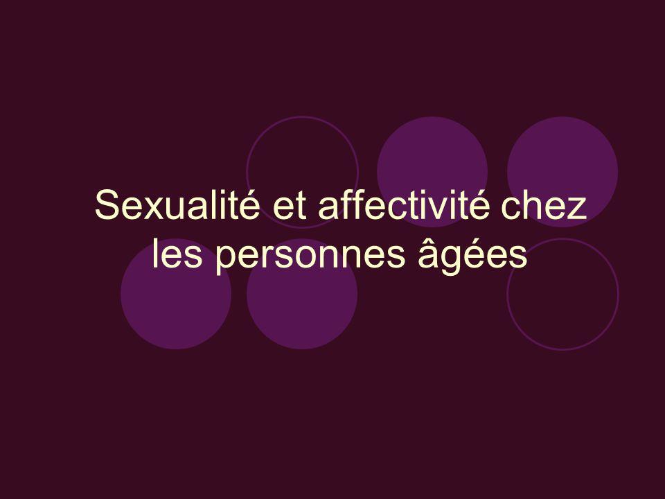Sexualité et affectivité chez les personnes âgées