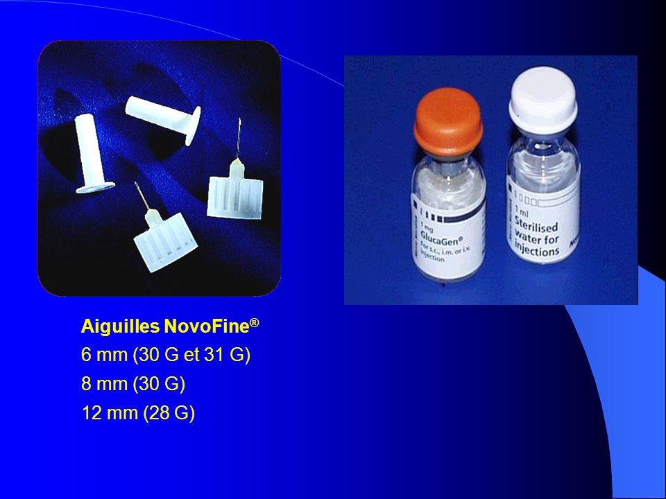 Aiguilles NovoFine ® 6 mm (30 G et 31 G) 8 mm (30 G) 12 mm (28 G)