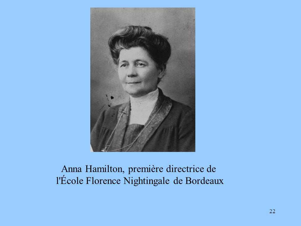 22 Anna Hamilton, première directrice de l'École Florence Nightingale de Bordeaux