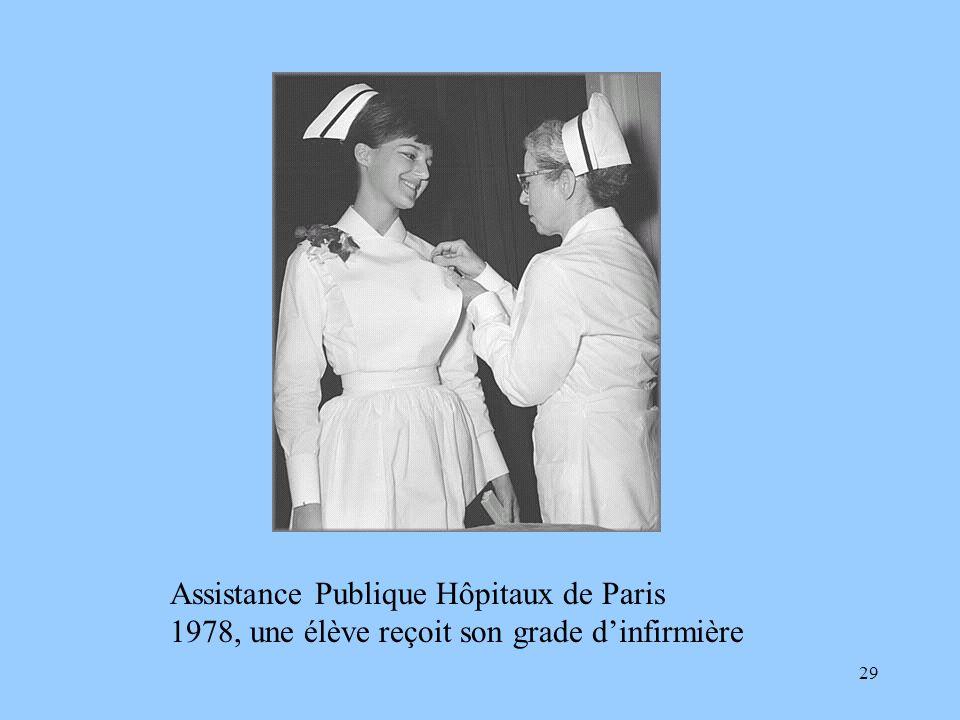 29 Assistance Publique Hôpitaux de Paris 1978, une élève reçoit son grade dinfirmière