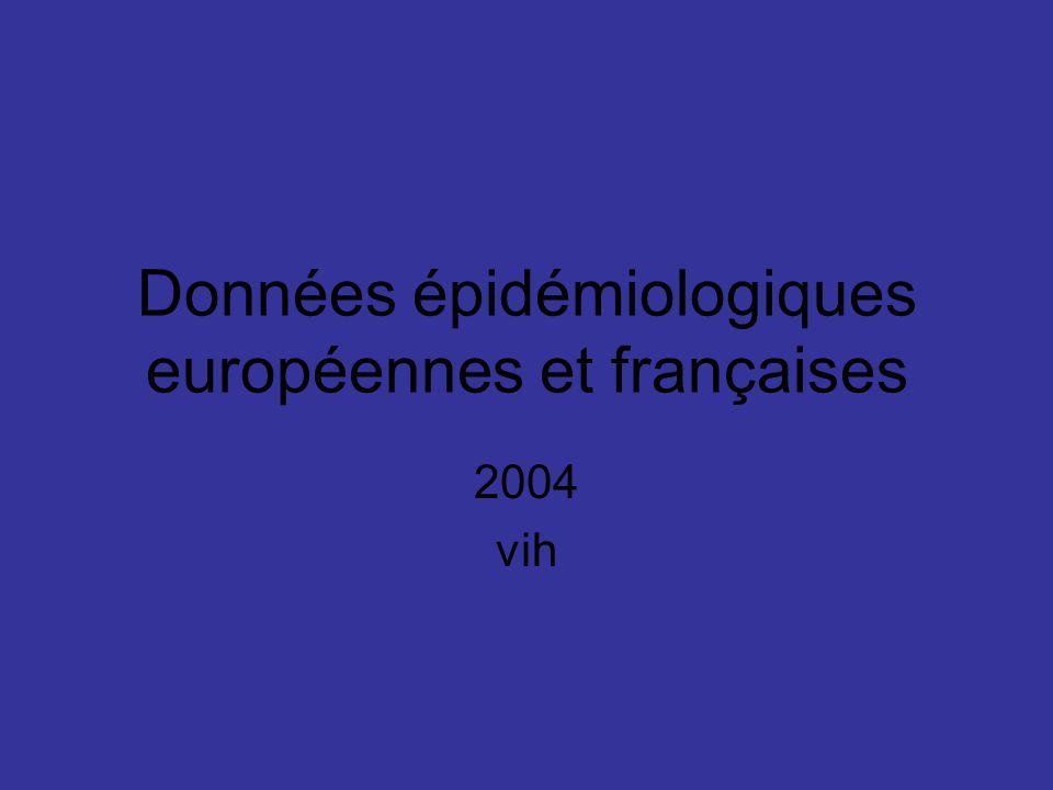 Données épidémiologiques européennes et françaises 2004 vih