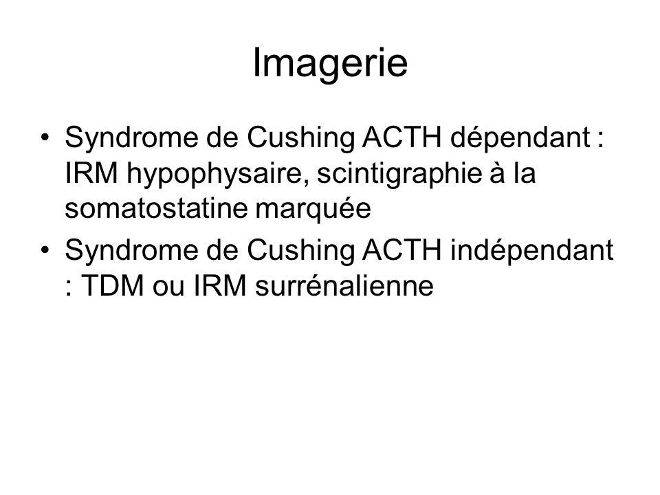 Traitement Maladie de Cushing : chirurgie par voie trans-sphénoïdale, anti-cortisolique de synthèse accompagnés dun traitement hormonal substitutif par hydrocortisone et fludrocortisone, radiothérapie, surrénalectomie bilatérale Tumeur surrénalienne : chirurgie +/- anti- cortisolique de synthèse