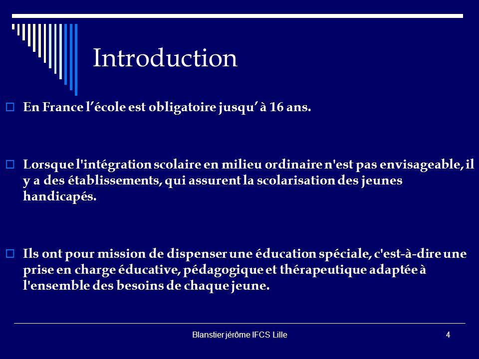 Blanstier jérôme IFCS Lille3 Quelques définitions Déficience C est «une perte de substance ou altération d une structure ou fonction psychologique, physiologique ou anatomique».