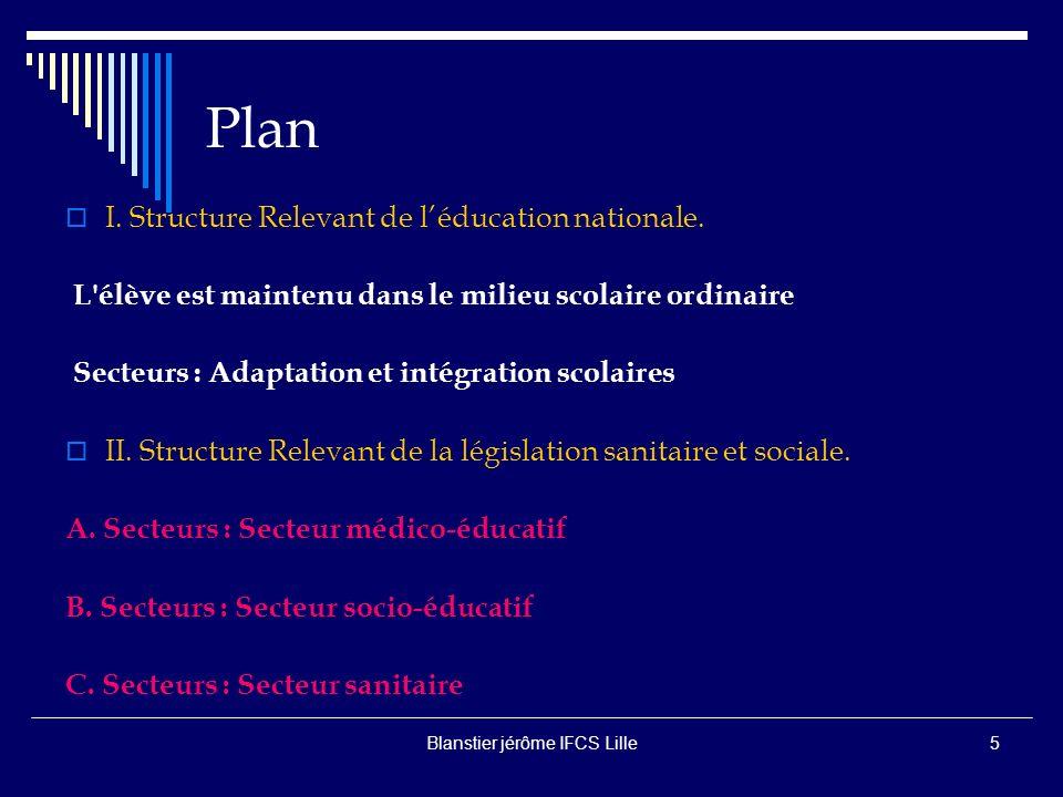 Blanstier jérôme IFCS Lille5 Plan I.Structure Relevant de léducation nationale.