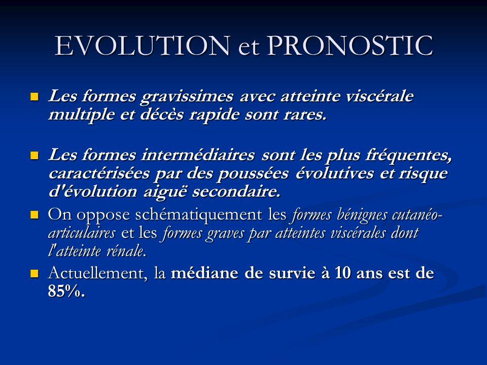 EVOLUTION et PRONOSTIC Les formes gravissimes avec atteinte viscérale multiple et décès rapide sont rares. Les formes gravissimes avec atteinte viscér