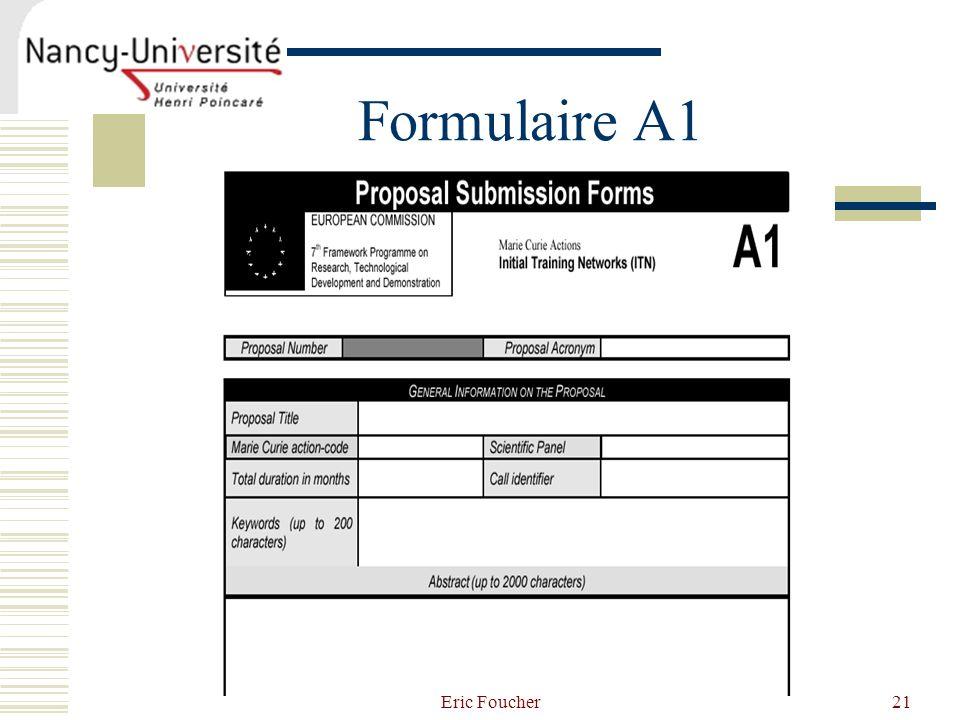 Eric Foucher21 Formulaire A1