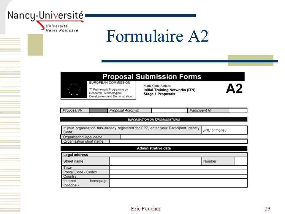 Eric Foucher23 Formulaire A2