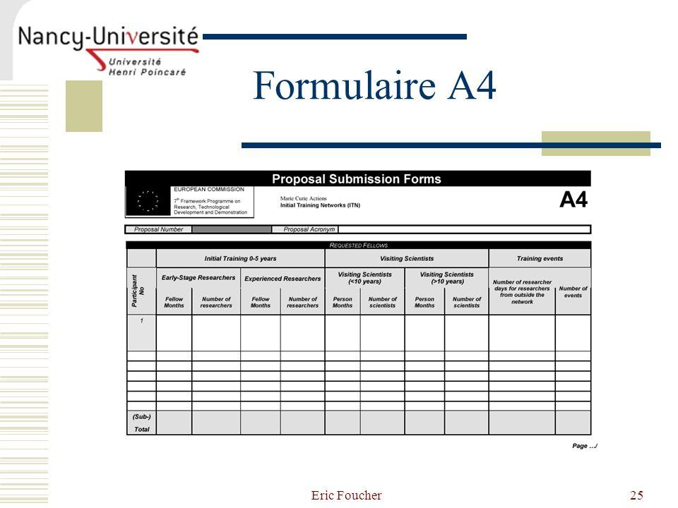 Eric Foucher25 Formulaire A4