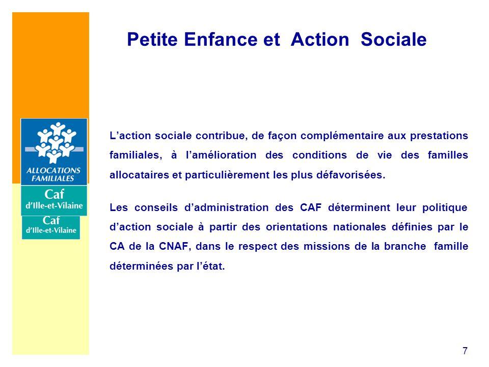 7 Laction sociale contribue, de façon complémentaire aux prestations familiales, à lamélioration des conditions de vie des familles allocataires et pa