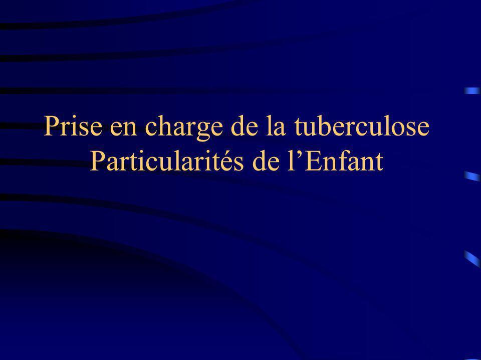 Prise en charge de la tuberculose Particularités de lEnfant