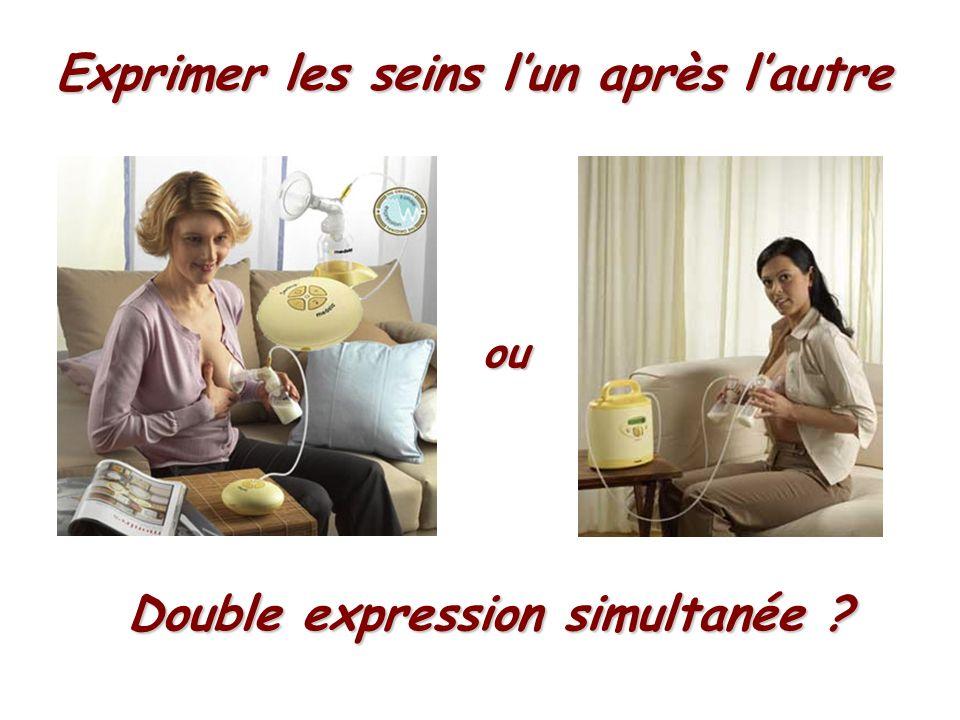 Exprimer les seins lun après lautre ou Double expression simultanée ?