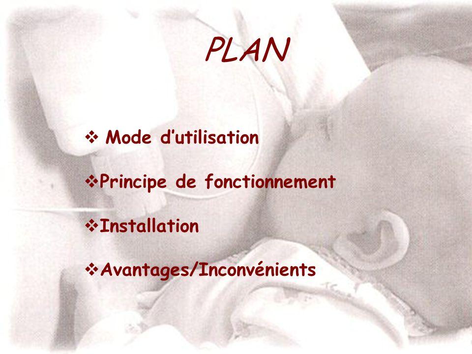 PLAN Mode dutilisation Principe de fonctionnement Installation Avantages/Inconvénients